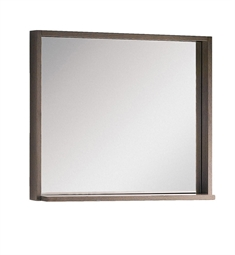 "Fresca FMR8130GO Allier 30"" Gray Oak Mirror with Shelf"