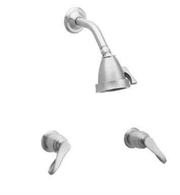 Phylrich K3104-065 Amphora Shower Set With Finish: Satin Nickel with Polished Gold