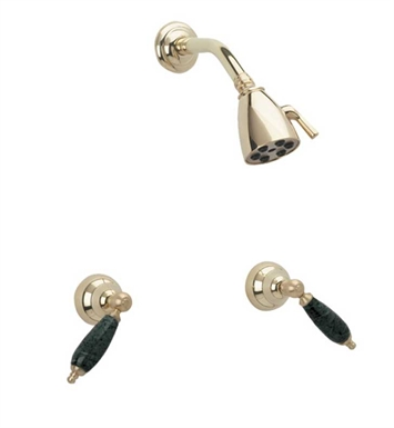 Phylrich K3158F-007 Carrara Shower Set With Finish: Polished Brass Antiqued