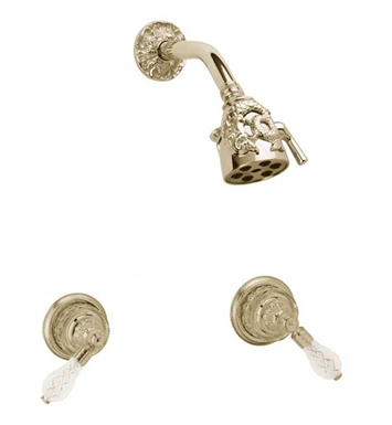 Phylrich K3184-071 Dolphin Shower Set With Finish: Polished Nickel with Polished Brass