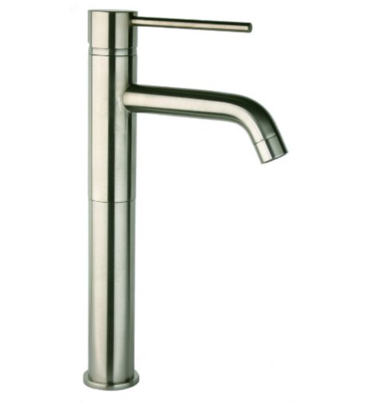 78pw211l elba single handle lavatory vessel faucet in brushed nickel