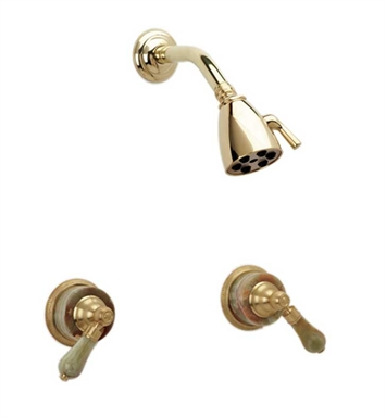 Phylrich K3270-080 Regent Shower Set With Finish: Satin Nickel with Polished Brass