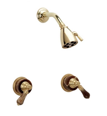 Phylrich K3271-25D Regent Shower Set With Finish: Polished Gold Antiqued