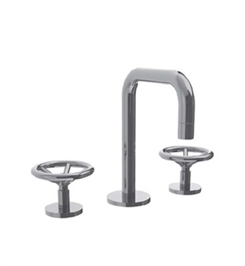 Watermark 31-2.1-BL Brooklyn Widespread Bathroom Faucet with Round Handles With Finish: Black <strong>(USUALLY SHIPS IN 9-10 WEEKS)</strong>
