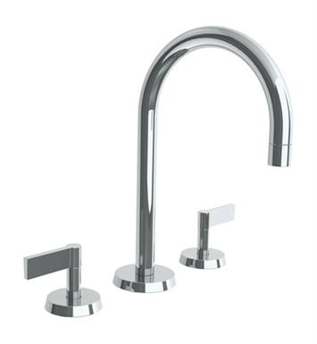 watermark 37 2 bl2 sc blue widespread bathroom faucet with lever