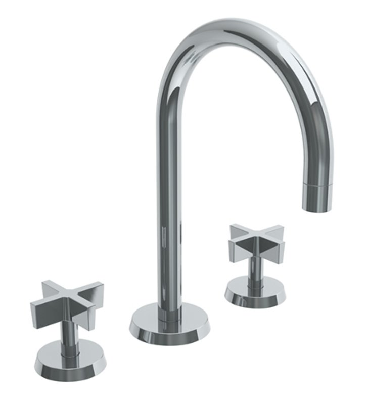 watermark 37 2 bl3 eb blue widespread bathroom faucet with cross