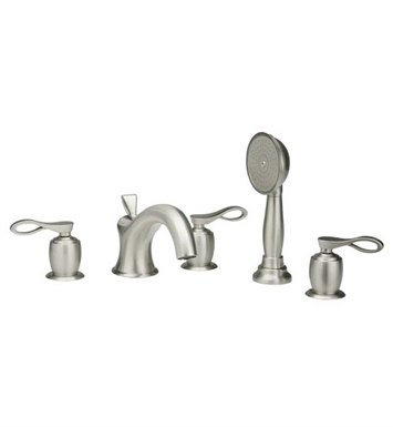 Phylrich K2104L1-065 Amphora Kitchen Deck Set with Hand Shower With Finish: Satin Nickel with Polished Gold