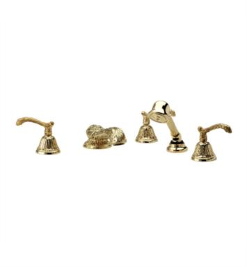 Phylrich K2144H1-080 Baroque Kitchen Deck Set with Hand Shower With Finish: Satin Nickel with Polished Brass