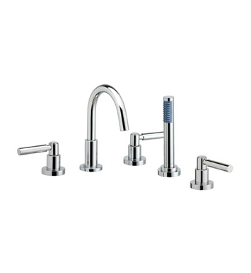 Phylrich D2130C1-065 Basic Kitchen Deck Set with Hand Shower With Finish: Satin Nickel with Polished Gold