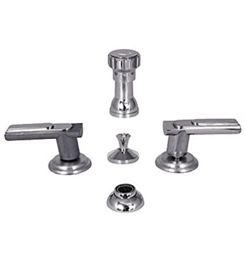 Watermark 160-4-AQ-GM Aqueduct Four Hole Bidet Faucet With Finish: Gun Metal <strong>(USUALLY SHIPS IN 8-9 WEEKS)</strong>