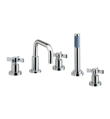 Phylrich D2139D1-082 Basic Kitchen Deck Set with Hand Shower With Finish: Polished Chrome with Polished Brass