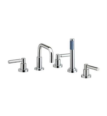 Phylrich D2132D1-080 Basic Kitchen Deck Set with Hand Shower With Finish: Satin Nickel with Polished Brass