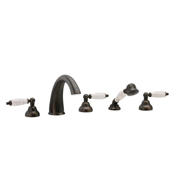 Phylrich K2158BT1-071 Carrara Kitchen Deck Set with Hand Shower With Finish: Polished Nickel with Polished Brass