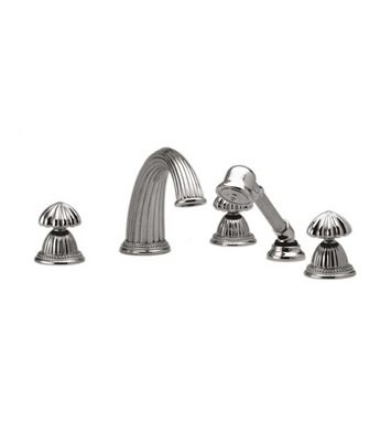 Phylrich K2361P1-015A Georgian & Barcelona Kitchen Deck Set with Hand Shower With Finish: Pewter