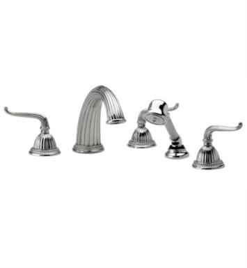 Phylrich K2141P1-080 Georgian & Barcelona Kitchen Deck Set with Hand Shower With Finish: Satin Nickel with Polished Brass