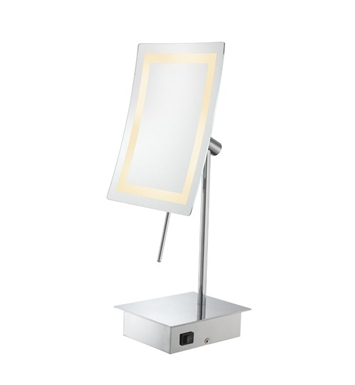Aptations 723 Minimalist Single-Sided LED Lighted Rectangular Free-Standing Mirror from the Kimball & Young Collection