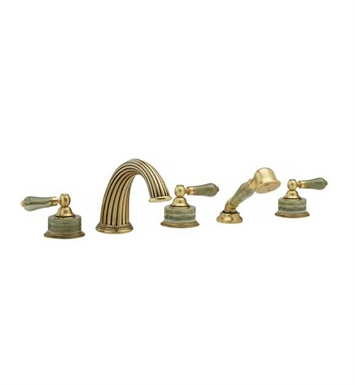 Phylrich K2270P1-25D Regent Kitchen Deck Set with Hand Shower With Finish: Polished Gold Antiqued