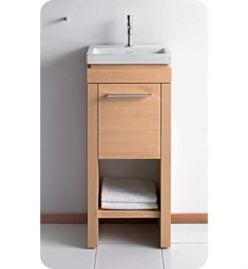 Duravit 2F6455R6262 2nd Floor Modern Freestanding Bathroom Vanity Unit With Finish: Anthracite Oak - Real Wood Veneer And Cabinet Hinge: Right Side Hinge
