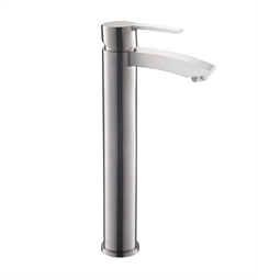 Fresca Livenza Single Hole Vessel Mount Bathroom Faucet in Brushed Nickel