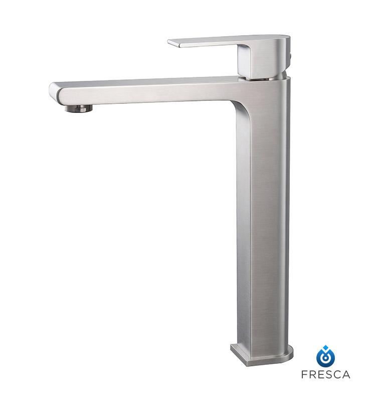 Fresca Fft9152bn Allaro Single Hole Vessel Mount Bathroom Faucet In Brushed Nickel