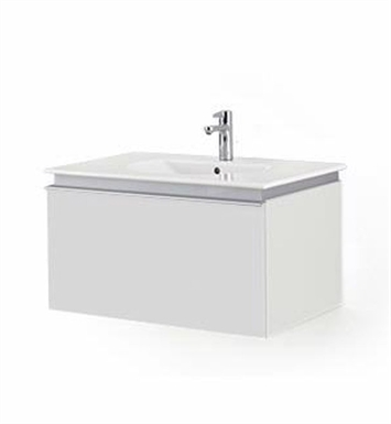 Duravit DN64613118 Darling New Wall-Mounted Modern Bathroom Vanity Unit With Body Finish: White Matt And Front Finish: Pine Silver