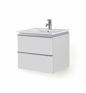 Duravit DN64703118 Darling New Wall-Mounted Modern Bathroom Vanity Unit With Body Finish: White Matt And Front Finish: Pine Silver