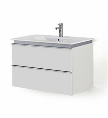 Duravit DN64711518 Darling New Wall-Mounted Modern Bathroom Vanity Unit With Body Finish: White Matt And Front Finish: Spring