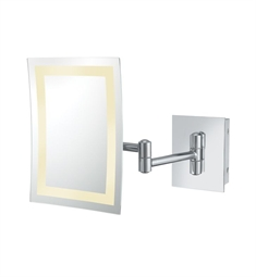 Aptations Single-Sided LED Lighted Rectangular Wall Mirror from the Kimball & Young Collection