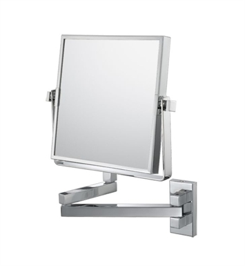 Aptations 24043 Double Arm Square Wall Mirror from the Mirror Image Collection With Finish: Chrome