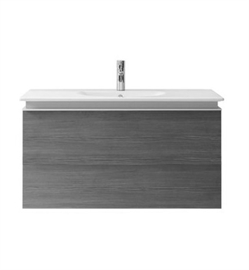 Duravit DL6232 Delos Wall-Mounted Modern Bathroom Vanity Unit - Pull-out Compartment Model