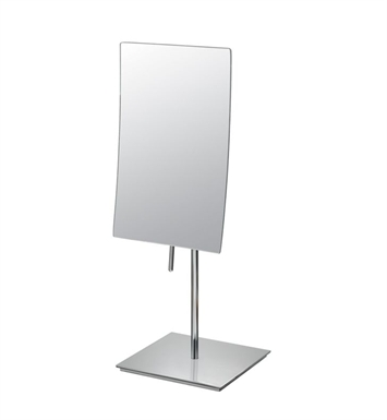 Aptations 82283 Single-Sided Minimalist Free-Standing Rectangular Mirror from the Mirror Image Collection With Finish: Polished  Nickel