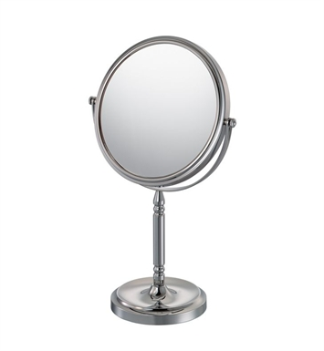 Aptations 86645 Recessed Base Free-Standing Round Mirror from the Mirror Image Collection With Finish: Chrome