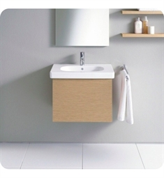 Duravit Delos DL6234 Wall-Mounted Modern Bathroom Vanity Unit - Pull-out Compartment Model