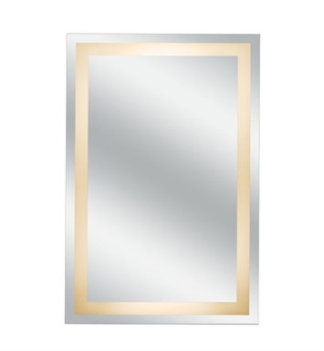 Aptations 30001HW Sergena Grounded Hardwire Back-Lit Wall Mirror with Classic Glass Design