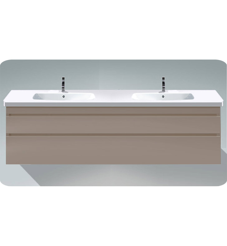 Duravit ds6498 durastyle wall mounted double sink modern for Vanity sink units bathroom sale