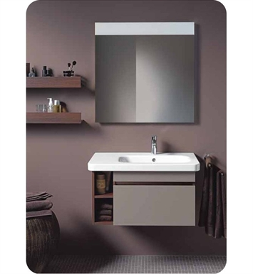 Duravit DS63934343 DuraStyle Wall Mounted Modern Bathroom Vanity Unit - Right Side Basin With Body Finish: Basalt Matt And Front Finish: Basalt Matt