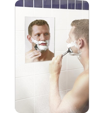 "Aptations 60012 12"" Heated Fog-Free Shower Wall Mirror from the ClearMirror Collection"