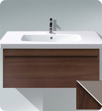 Duravit DS63855318 DuraStyle Wall Mounted Modern Bathroom Vanity Unit With Body Finish: White Matt And Front Finish: Chestnut Dark