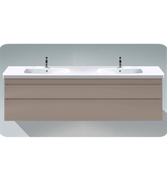 Duravit DS6486 DuraStyle Wall Mounted Double Sink Modern Bathroom Vanity Unit