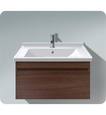 Duravit DS63885253 DuraStyle Wall Mounted Modern Bathroom Vanity Unit with Cut-out for Siphon and Siphon Cover With Body Finish: Chestnut Dark And Front Finish: European Oak