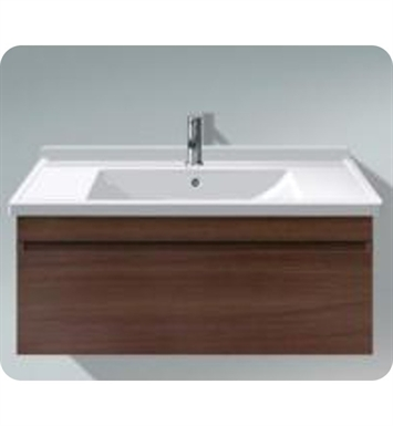 Duravit DS63894353 DuraStyle Wall Mounted Modern Bathroom Vanity Unit with Cut-out for Siphon and Siphon Cover With Body Finish: Chestnut Dark And Front Finish: Basalt Matt