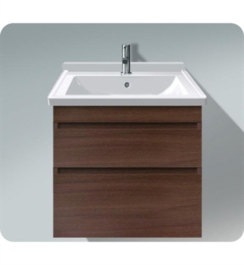 Duravit DS64874353 DuraStyle Wall Mounted Modern Bathroom Vanity Unit with Two Drawers With Body Finish: Chestnut Dark And Front Finish: Basalt Matt