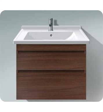 Duravit DS64885318 DuraStyle Wall Mounted Modern Bathroom Vanity Unit with Two Drawers With Body Finish: White Matt And Front Finish: Chestnut Dark