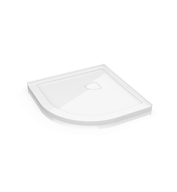 "Fleurco ALR40-18 Round Low Profile Acrylic Shower Base with Concealed Corner Drain With Base Size: 40"" x 40"" x 2"" And Finish: White"