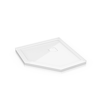 "Fleurco ALN42-18 Neo Low Profile Acrylic Shower Base with Concealed Corner Drain With Base Size: 42"" x 42"" x 2"" And Finish: White"