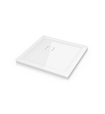 "Fleurco ALC36-18 Square Low Profile Acrylic Shower Base with Concealed Corner Drain With Base Size: 36"" x 36"" x 2"" And Finish: White"