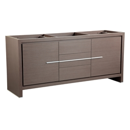 "Fresca FCB8172GO Allier 72"" Gray Oak Modern Double Sink Bathroom Cabinet"