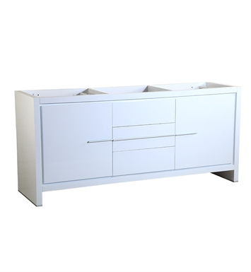 "Fresca FCB8172WH Allier 72"" White Modern Double Sink Bathroom Cabinet"