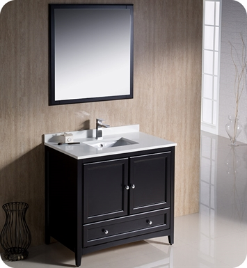 "Fresca FVN2036ES Oxford 36"" Traditional Bathroom Vanity in Espresso"