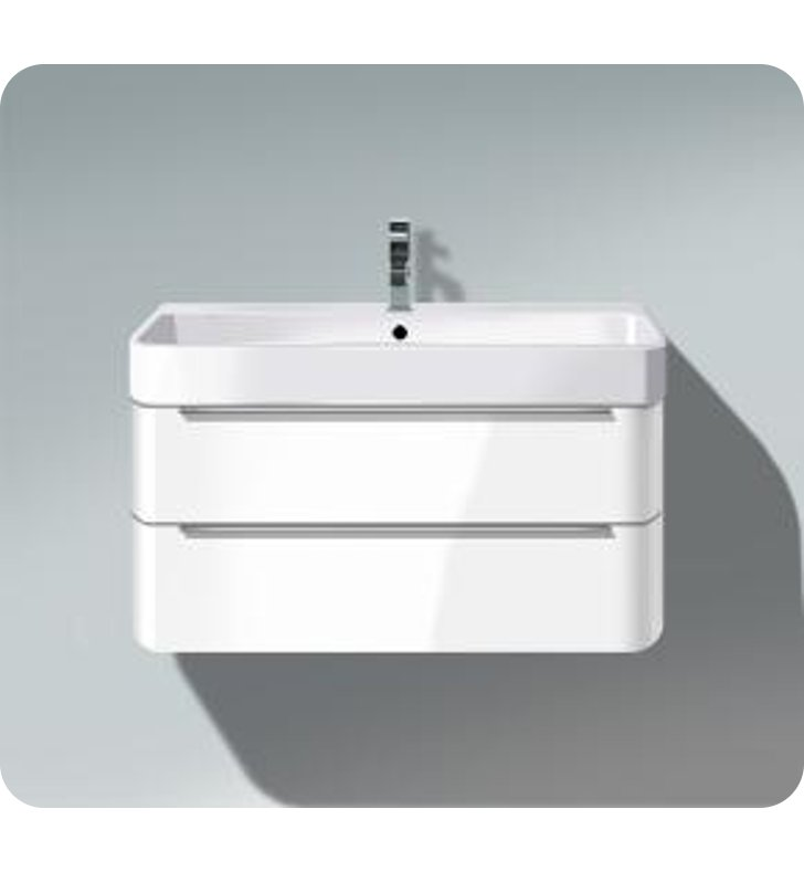 Duravit h263640 happy d 2 wall mounted modern bathroom vanity unit with two d - Vasque a poser duravit ...